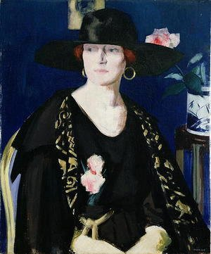 Francis Campbell Boileau Cadell - A Lady in Black and Gold