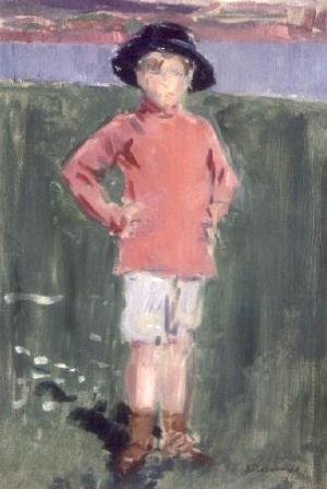 Francis Campbell Boileau Cadell - Young Boy on the Shore, Iona