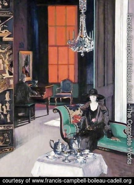 Francis Campbell Boileau Cadell - Interior - The Orange Blind, c.1928