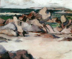 Francis Campbell Boileau Cadell - Treshnish Point, North End Iona, c.1934