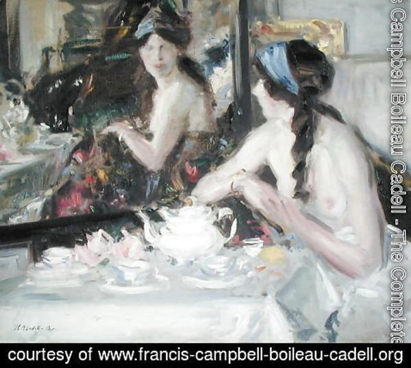 Francis Campbell Boileau Cadell - At the Mirror, 1913