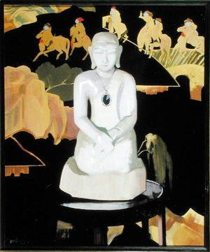 Francis Campbell Boileau Cadell - The Buddha (Black and Gold) c.1929-30