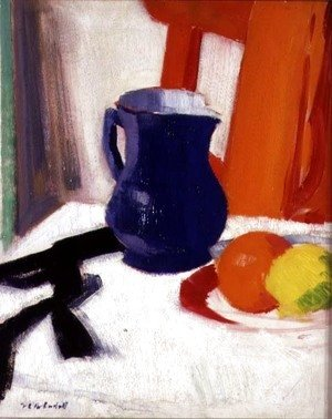 Francis Campbell Boileau Cadell - Blue and Orange