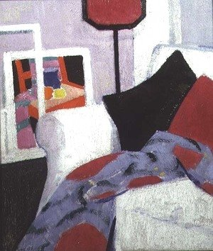 Francis Campbell Boileau Cadell - The White Sofa, 7 Ainslie Place, c.1915