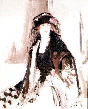 Francis Campbell Boileau Cadell - Portrait of Lady Lavery