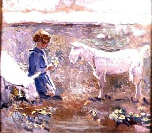 Francis Campbell Boileau Cadell - Goats Grazing