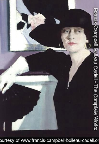 Francis Campbell Boileau Cadell - Portrait of a Lady in Black, c.1921