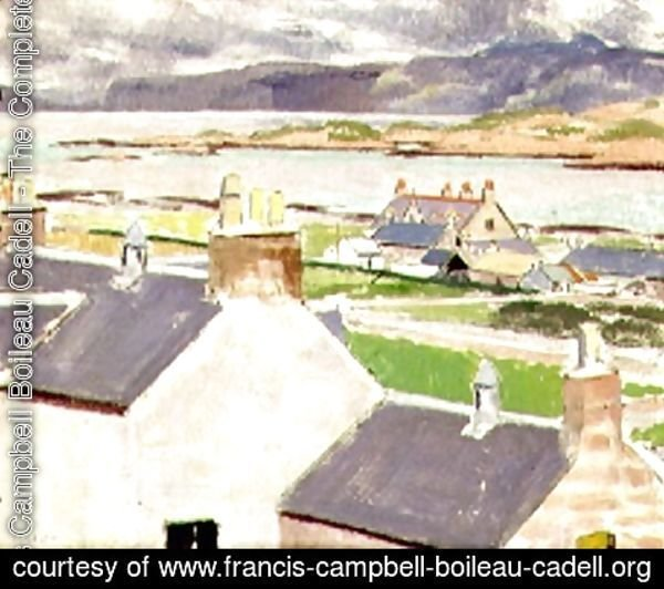 Francis Campbell Boileau Cadell - Iona, Rooftops