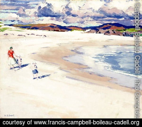 Francis Campbell Boileau Cadell - On the Shore, Iona, c.1920s