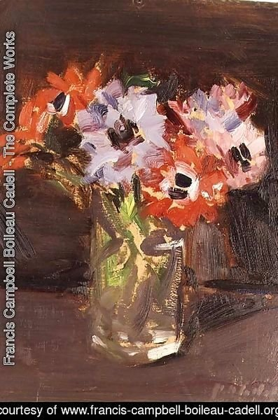 Francis Campbell Boileau Cadell - A Still Life of Anemones