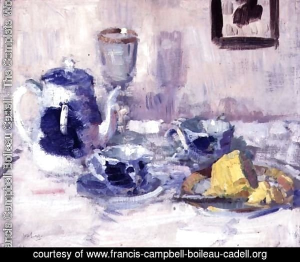 Still Life, Blue and White