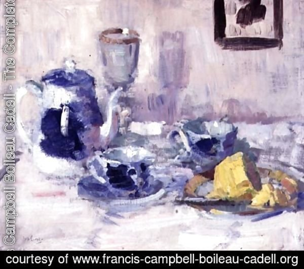 Francis Campbell Boileau Cadell - Still Life, Blue and White