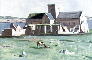Francis Campbell Boileau Cadell - Iona Cathedral, c.1920s