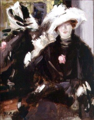 Francis Campbell Boileau Cadell - The Feathered Hat