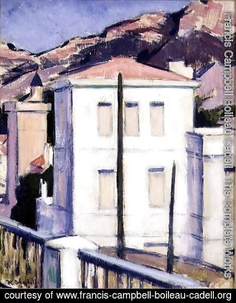Francis Campbell Boileau Cadell - The White Villa, Cassis, 1924