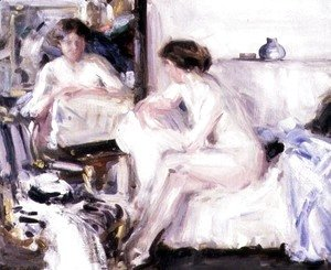 Francis Campbell Boileau Cadell - Nude Seated on a Sofa