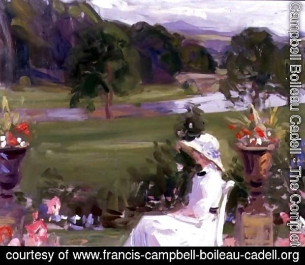 Francis Campbell Boileau Cadell - Jean Cadell at Dalserf, 1912