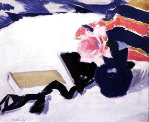 Francis Campbell Boileau Cadell - The Rose and the Black Ribbon