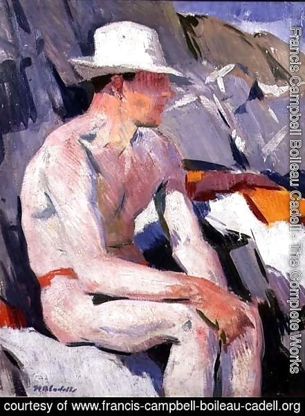 Francis Campbell Boileau Cadell - Bather in a White Hat