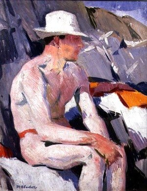 Bather in a White Hat