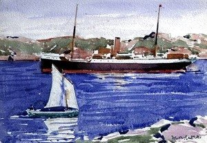Francis Campbell Boileau Cadell - Steamer and Yacht, Iona