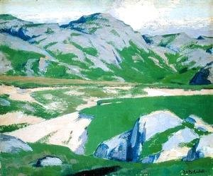 Francis Campbell Boileau Cadell - Lake and Mountains