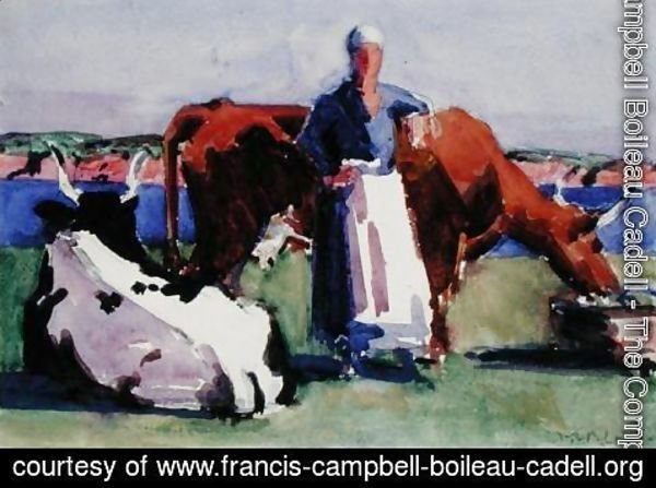 Francis Campbell Boileau Cadell - Milkmaid, Iona