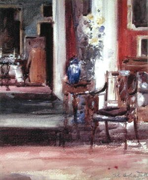 Francis Campbell Boileau Cadell - Interior of the Artist's House, Ainslie Place, Edinburgh