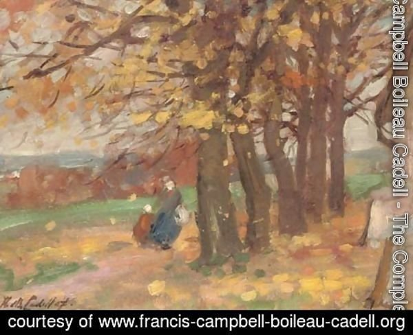 Francis Campbell Boileau Cadell - Autumnal landscape study