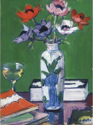Francis Campbell Boileau Cadell - Still life, anemones