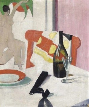 Francis Campbell Boileau Cadell - The red chair, circa 1923-1925