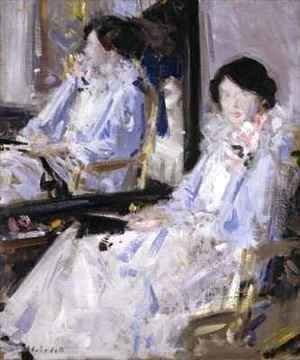 Francis Campbell Boileau Cadell - Girl in Blue Reflections