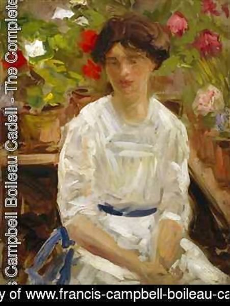Francis Campbell Boileau Cadell - Lady in White