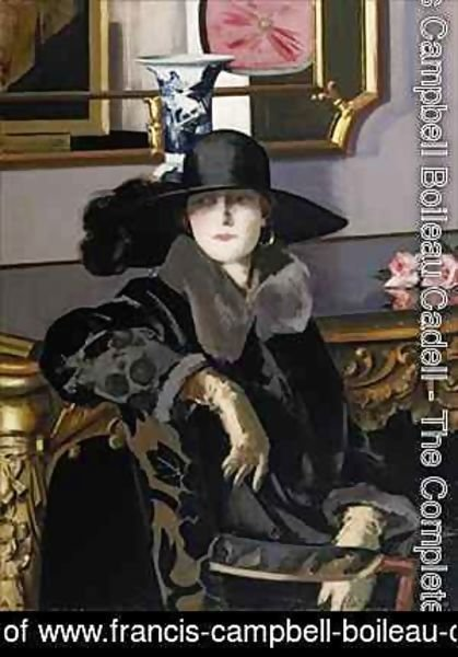 Francis Campbell Boileau Cadell - A Lady in Black