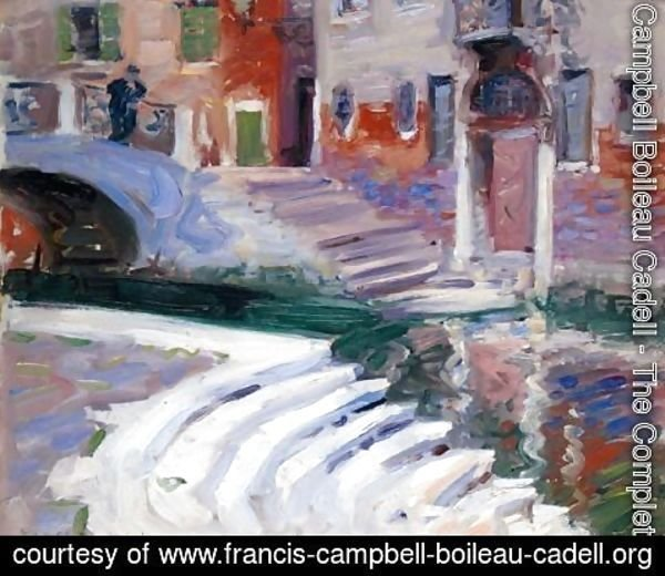 Francis Campbell Boileau Cadell - The Steps To The Canal, Venice