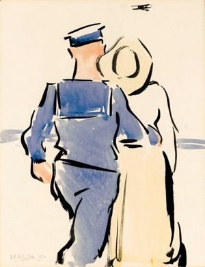 Francis Campbell Boileau Cadell - The Biplane