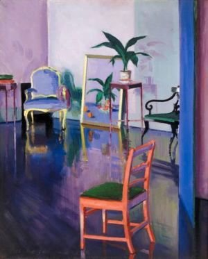 Francis Campbell Boileau Cadell - The Red Chair