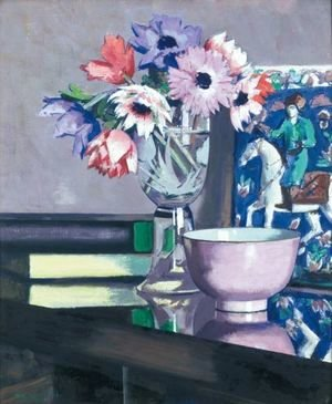 Francis Campbell Boileau Cadell - Still Life With Anemones