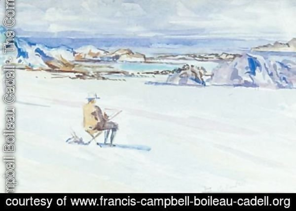 Francis Campbell Boileau Cadell - Self Portrait On Iona