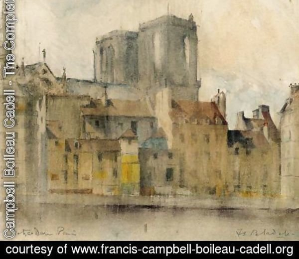 Francis Campbell Boileau Cadell - Notre Dame From The Seine, Paris