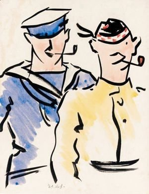 Francis Campbell Boileau Cadell - Tommy And Jack