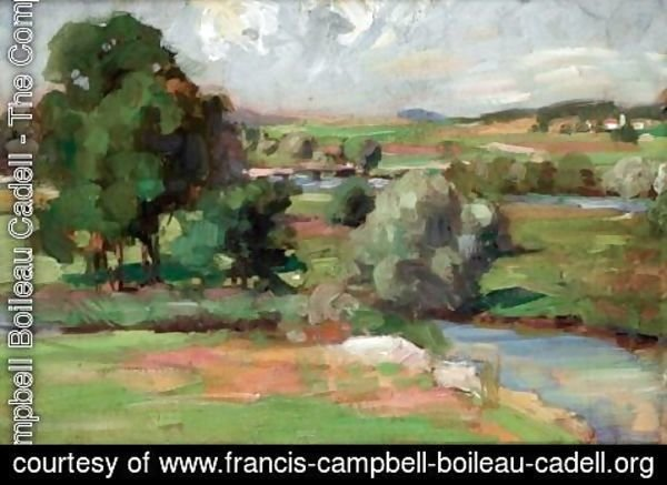 Francis Campbell Boileau Cadell - The Clyde At Dalserf