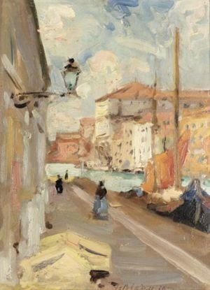 Francis Campbell Boileau Cadell - Venetian Quay