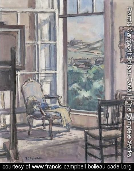 Francis Campbell Boileau Cadell - Interior, The Open Window