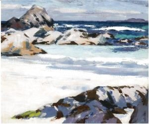 Francis Campbell Boileau Cadell - A View From Iona Looking Towards Lunga